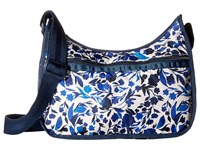 Le Sport Sac Classic Hobo Bag Blooming Silhouettes Cross Body Handbags Blue