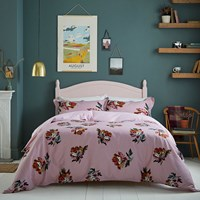 Joules Heritage Peony Duvet Cover Lilac Pink