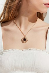 Urban Outfitters Stone Roses Statement Pendant Necklace Gold