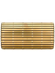 Elie Saab Metallic Barrel Clutch