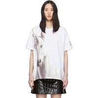 Burberry White Oversized Carrick T Shirt