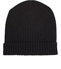 Barneys New York Men's Rib Knit Cap Black