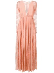 Aniye By Lace Inserts Long Dress Pink