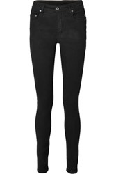 Rick Owens Coated High Rise Skinny Jeans Black