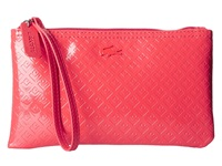 Lacoste L.12.12 Glossy Clutch Bag Hibiscus Clutch Handbags Pink