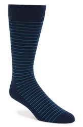 Men's Happy Socks Thin Stripe Socks Blue Blue Aqua