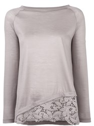 Fabiana Filippi Layered Effect Knitted Top Nude Neutrals
