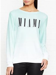 Wildfox Couture Miami Baggy Beach Jumper Mint