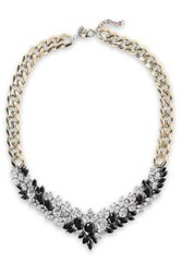Iosselliani Woman Burnished Gold Tone Crystal Necklace Gold