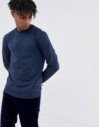 Only And Sons Basic Sweatshirt Blue Nights Navy