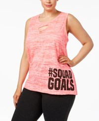 Material Girl Active Plus Size Burnout Tank Top Only At Macy's Flashmode