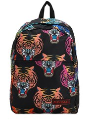 Minimal All Over Print Backpack Black