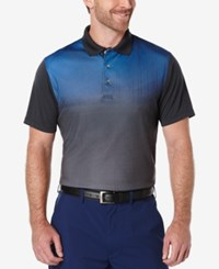 Pga Tour Men's Ombre Golf Polo Caviar