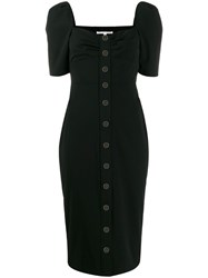 Veronica Beard Short Sleeve Midi Dress Black