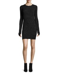 Current Elliott The Melange Sweaterdress Black Gray Black Grey