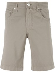 Jacob Cohen Classic Chino Shorts Green
