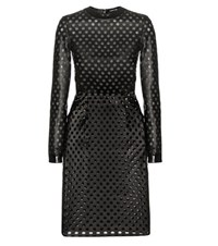 Tom Ford Perforated Leather Dress Black