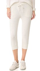 Monrow Cropped Sporty Sweatpants Ash