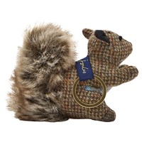Joules Tweedle Squirrel Keyring Brown
