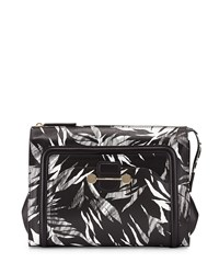 Jason Wu Daphne 2 Tropical Print Clutch Bag Black