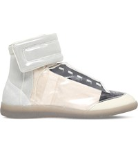 Maison Martin Margiela Future Transparent High Top Trainers Beige Comb