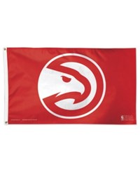 Wincraft Atlanta Hawks Deluxe Flag New Logo Red White
