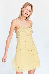 Kimchi And Blue Amber Jewel Embellished Mini Dress Yellow