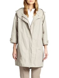 Peserico Hooded Rain Coat Khaki