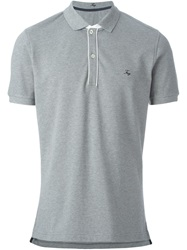 Fay Short Sleeve Polo Shirt Grey
