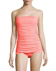 Coco Rave Solids Strapless Swimdress Coral