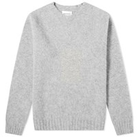 Norse Projects Birnir Brushed Lambswool Crew Knit Grey