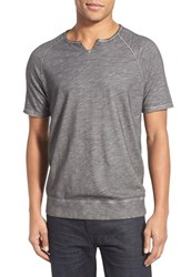 Men's John Varvatos Star Usa Short Sleeve Raglan T Shirt Cast Iron