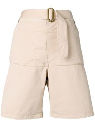 J.W.Anderson Jw Anderson Fold Front Utility Shorts Brown