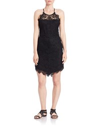 Free People Shes Got It Scalloped Lace Slip Dress Black