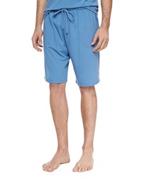 Derek Rose Basel Jersey Lounge Shorts Blue