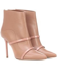Malone Souliers Madison 100 Leather Ankle Boots Beige