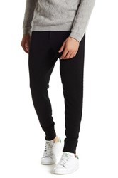 John Varvatos Ribbed Cashmere Sweatpant Black