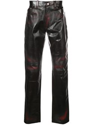 Martine Rose Leather Trousers Black