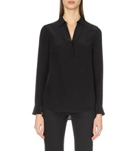 The White Company Loose Fit Woven Blouse Black