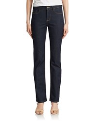 Nydj Straight Denim Jeans Dark Enzyme