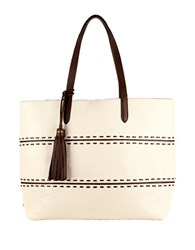 Cole Haan Pinch Leather Tote Ivory