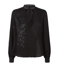 Elie Saab Floral Embellished Top Female Black