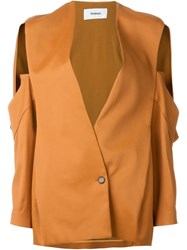 Chalayan Open Pocket Jacket Yellow And Orange