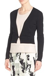 Women's Boss 'Fausa' V Neck Cardigan Black