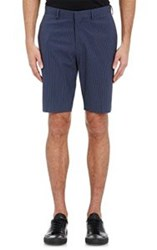 Theory Men's Gingham Seersucker Shorts Blue