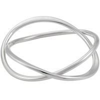 Andea Silver Abstract Twisted Bangle