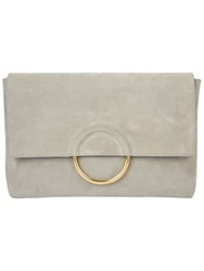 Jaeger Rose Ring Clutch Bag Light Grey