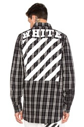 Off White Check Shirt Black And White