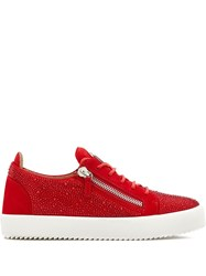 Giuseppe Zanotti Low Top Crystal Embellished Sneakers 60
