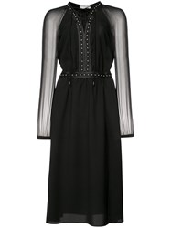 Altuzarra Lace Up Studded Dress Black